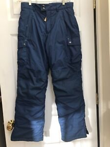 d1ac396f8 Details about Lands End Boys Snow Pants SZ 16 Squall Grow-A-Long Blue  Winter Snowboard Ski