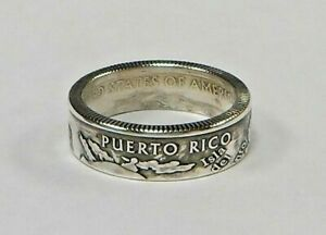 State Quarter Coin Ring made from genuine US Quarter