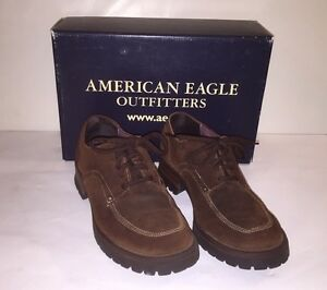 Vintage-AEO-American-Eagle-Outfitters-Brown-Leather-Suede-Oxfords-6-Chunky-Heel