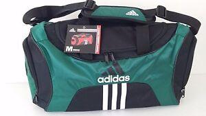 NWT ADIDAS SCORER MEDIUM Black Green Duffel Sport Gym Bag Luggage 25 ... 47a9cd6a91a04
