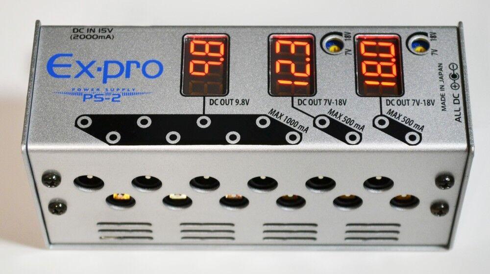 Ex-Pro Ps-2 Dc Netzteil Gitarren Effektpedal 7v - 18v Hergestellt in Japan Neu