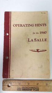 1940-La-SALLE-Original-Owners-Manual-Good-Condition-US