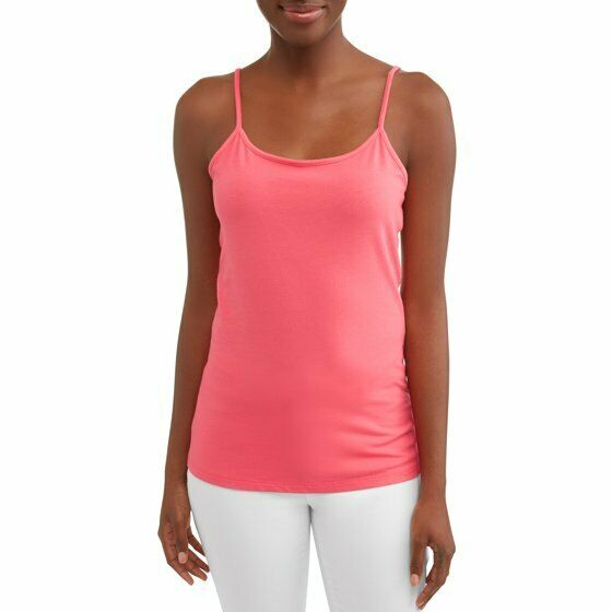 Time And Tru Women's Scoop Neck Cami Shirt 3XL (22) Coral ...