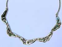 Handcrafted Abalone Butterfly Statement Nickel Silver Necklace Brand