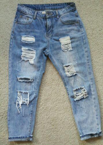 Women's ripped boyfriend jeans 28 Blue