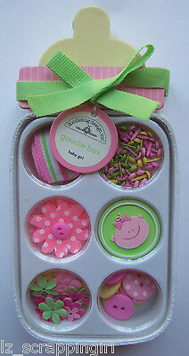 ~BABY GIRL~ Doodlebug Design Inc GOODIE BOX; newborn daughter, pink yellow green