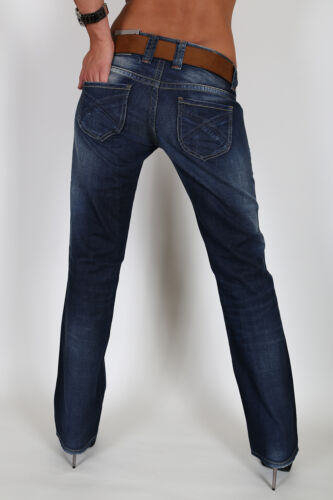 NEW PEPE Bloom Donna Jeans Pantaloni W L 26 27 28 29 30 32 34 NUOVO