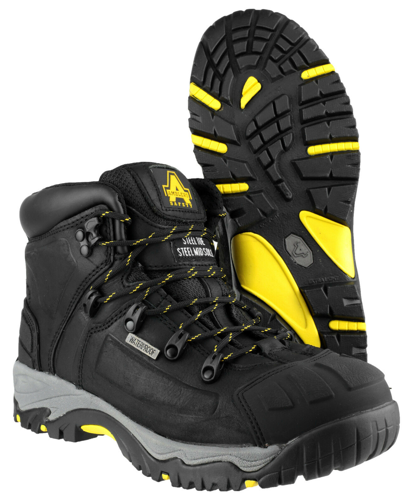Amblers Acciaio fs32 Sicurezza Impermeabile Uomo Nero Acciaio Amblers Puntale Stivali Da uk3-15 d2039f
