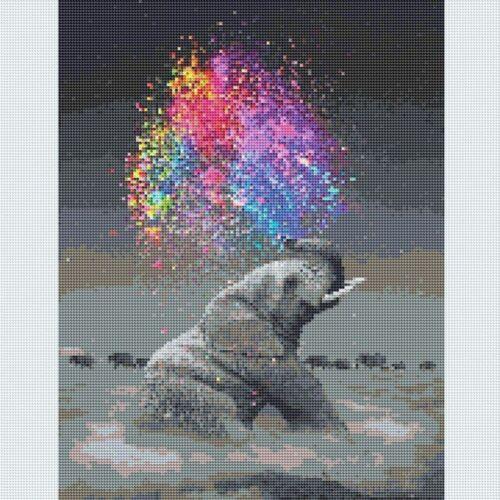 5D Full Drill Diamond Painting Elephant Art Embroidery Cross Stitch DIY Decors