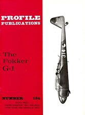 FOKKER G.1 DUTCH FIGHTER: PROFILE PUBS #134/ 7 ADDED PAGES PLUS A3 FOLDOUT PLAN