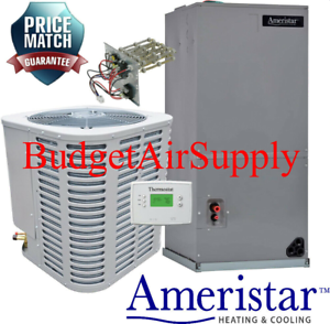 Details about AMERISTAR 2 5 TON 14 Seer HEAT PUMP Split System FREE! Tstat  +Heat Strip