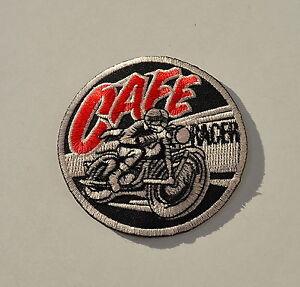 Patch-Cafe-Racer-Vintage-Aufnaeher-Aufbuegler-Triumph-Norton-BSA-Biker-Racing