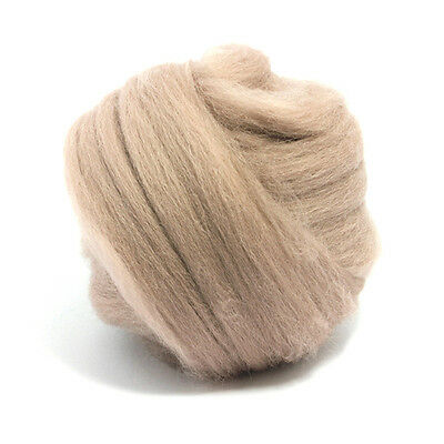 50g DYED MERINO WOOL TOP MINK PINK BROWN DREADS 64/'s SPINNING FELTING ROVING