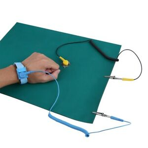 Anti-Static-Electrostatic-Discharge-Wrist-Strap-Ground-Wire-Mat-Set-30-40cm