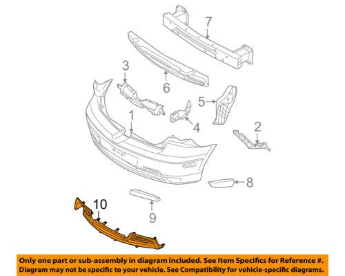 MAZDA OEM 07-09 3-Spoiler Valance Panel BAP850222C
