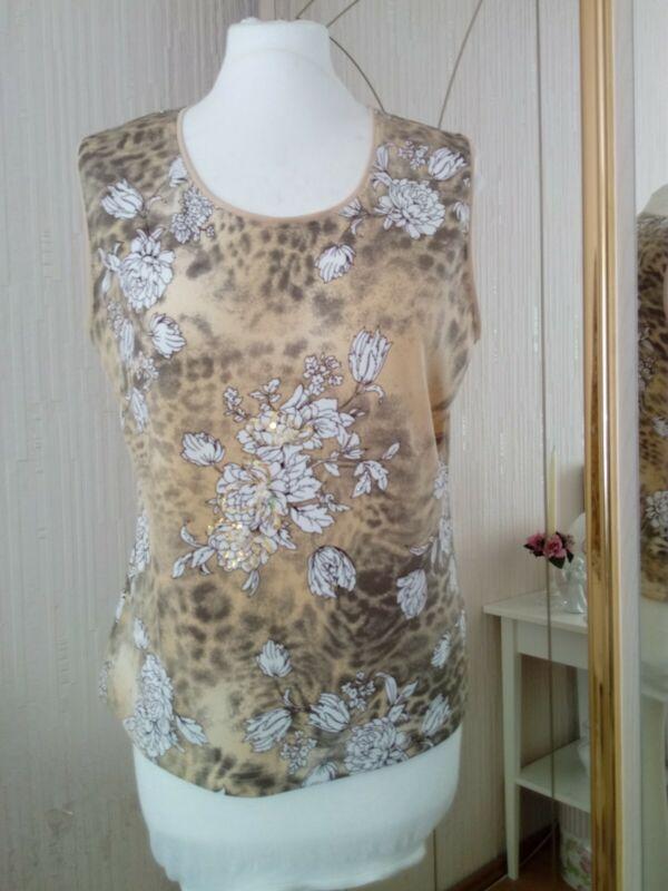 Klingfield - Shirt - Bestickt - Blumen Muster - Größe 44 Attraktive Designs;