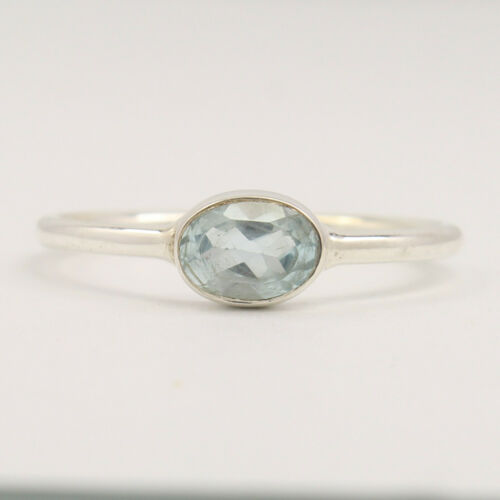 Blue Topaz ring Stackable Daily Wear Rings in all US size 925 Sterling Silver