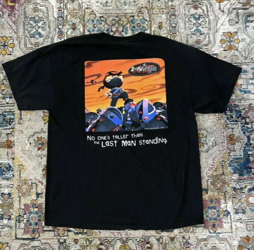 Vintage I-Ninja Playstation Video Game Promo Shirt
