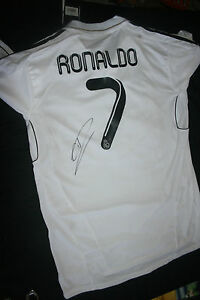 d9a87c171c6 cristiano ronaldo signed real madrid jersey dc coa (new with tags