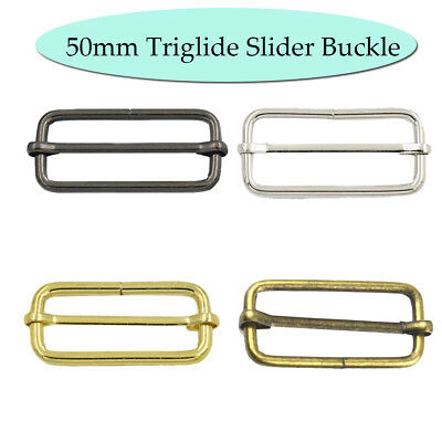 Fastener Metal Sliding Bar Webbing Belt Strapping Adjuster Slider Buckles 38mm