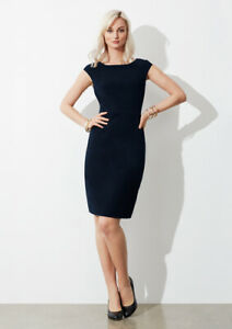 Biz-Collection-Ladies-Shift-Audrey-Dress-Fully-Stretch-Lining-Easy-Care-Fabric