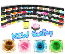 50x Pots Colours Nail Art UV Gel Sparkle Pure Color UV Builder Gel Full Set #303