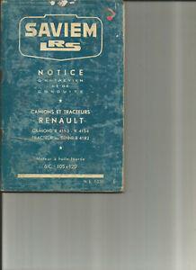 SAVIEM-LRS-RENAULT-R-4153-4154-4182-notice-entretien-conduite-carnet