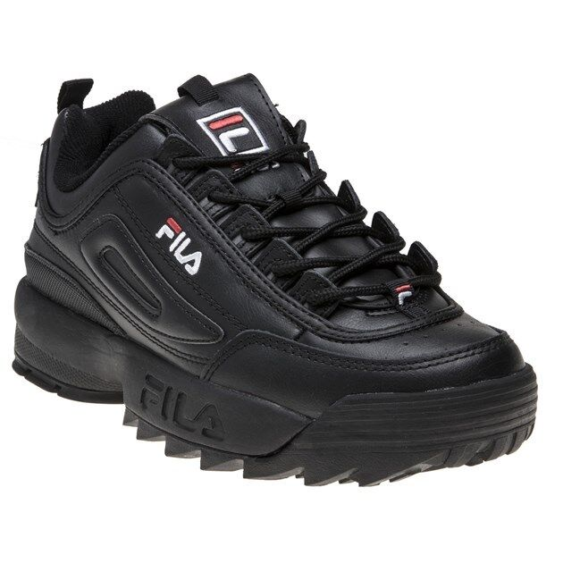 FILA Disruptor 2 Premium Womens Trainers Black Size 5 for sale online  de162c0c29