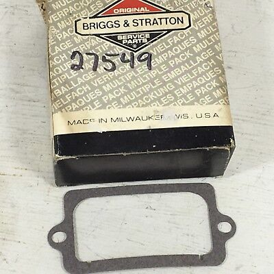 For 2 Briggs /& Stratton New Old Stock 27549S Breather Gasket FREE S/&H!