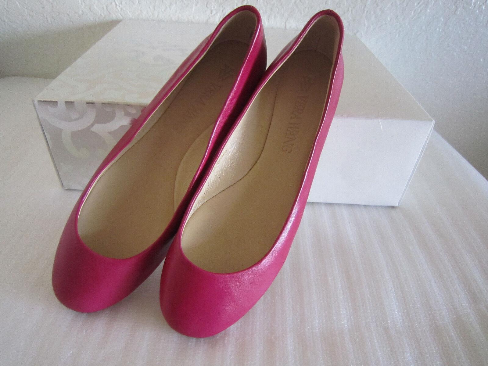 vera vera vera wang lara cerise doux cuir chaussures de créateur des ballerines 6 femmes bad01e