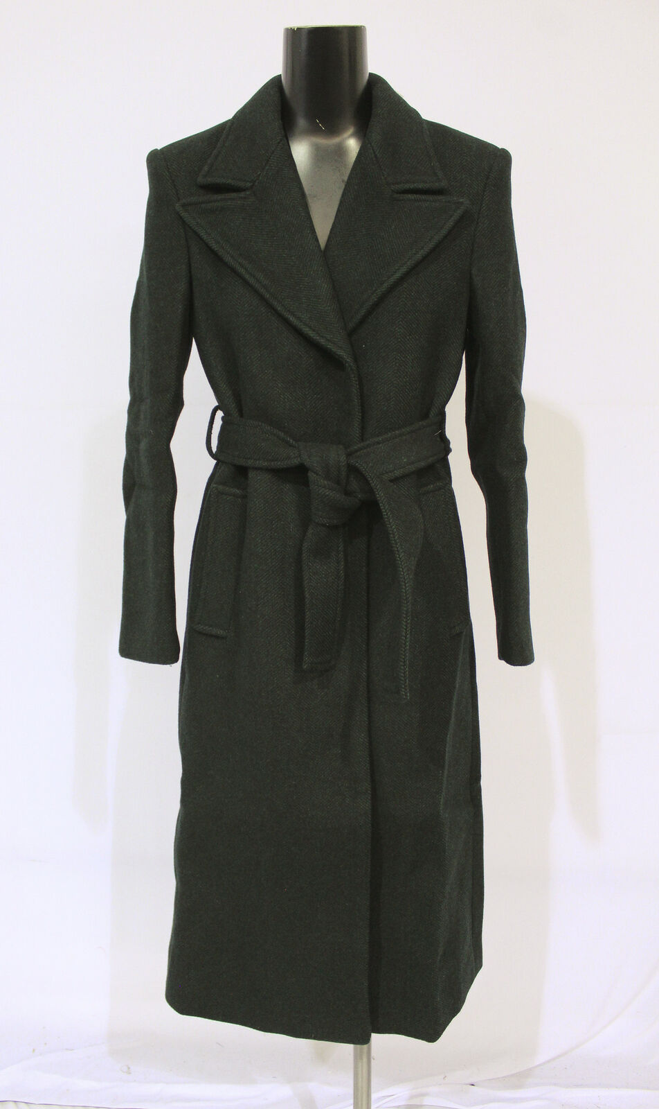 & Other Stories Women's Hourglass Double Breasted Coat CD4 Dark Green Size 2 NWT