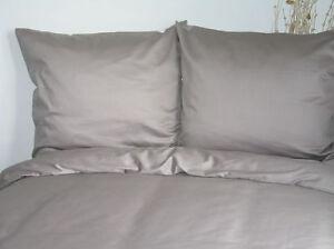 4-pz-cotone-mako-lenzuola-uni-grigio-135x200-cm-Set-Biancheria-da-letto-chiaro
