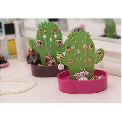 Hot Pink Base Cactus Ring Earring Necklace Jewelry Hanging Display Stand Holder