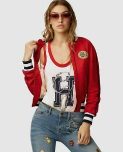 b4c728ba1 Details about womens gigi hadid and tommy hilfiger bomber jacket