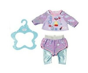 Zapf Creation Baby Born Fashion Sequin Outfit For 39-43cm Dolls - Purple Top