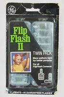 new Ge Flip Flash Ii Twin Pack 2 Arrays-16 Flashes For All Flipflash Cameras
