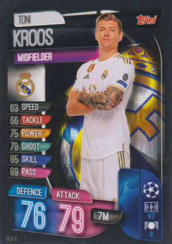 Topps Match Attax Champions League 19 20 2019 2020 REA8  Toni Kroos Basis Karte