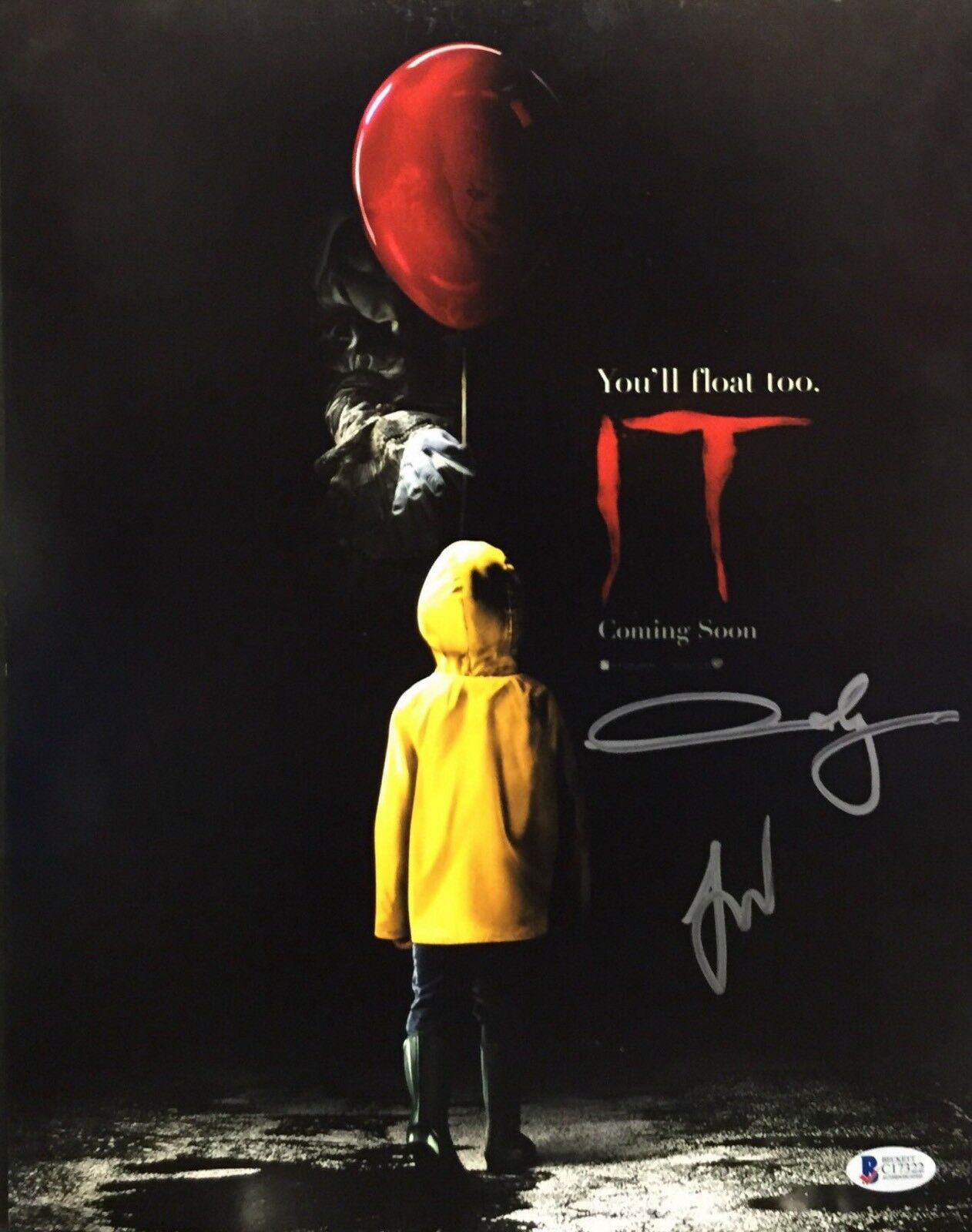 Jaeden Lieberher And Andy Muschietti Signed 'It' 11x14 Photo Beckett C17322