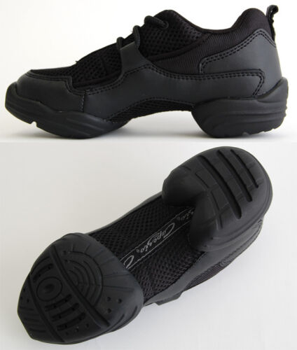 Hip Hop NEW Dansneaker Capezio DS11 Fierce Black Unisex Child 1 Adult 12.5