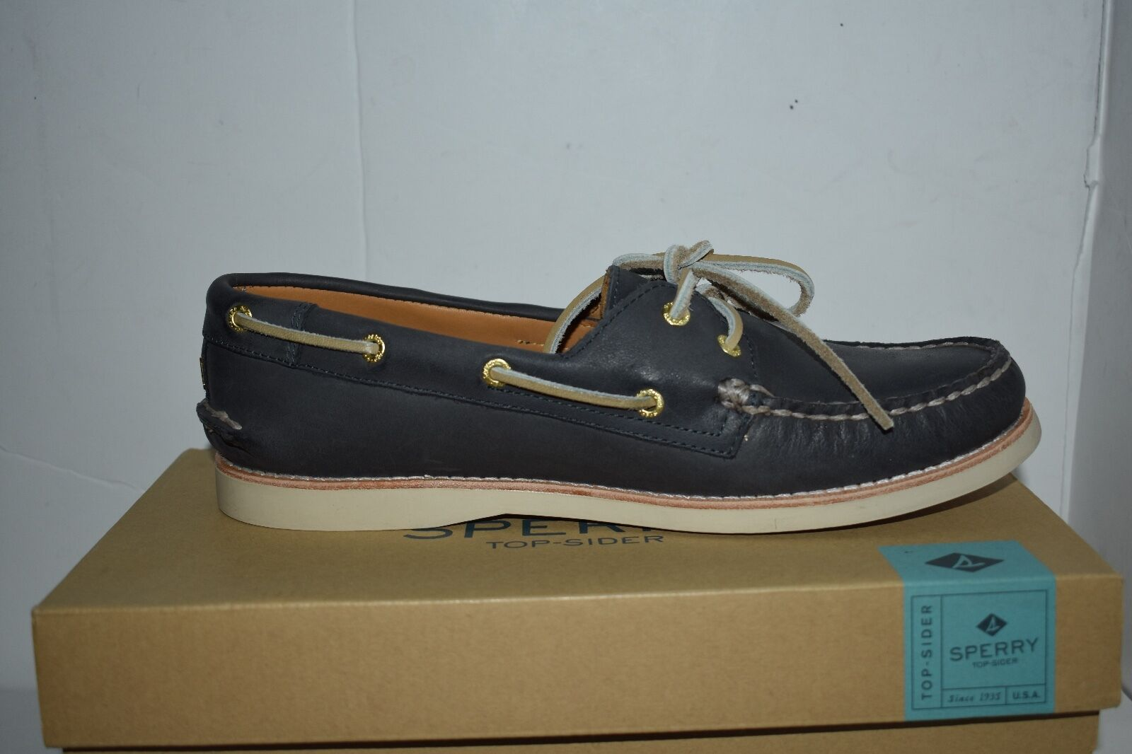 Sperry Top-Sider gold Cup Cup Cup A O 2-Eye bluee Womens shoes 10 M Flats MSRP  159.95 629b87