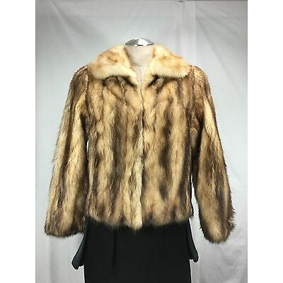 CUTIE REAL NATURAL  GERMAN BLACK FOREST FITCH FUR LET OUT LADY BOLERO FREE SHIPG