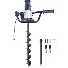 Vevor 1200 W Electric Post Hole Digger With 4 Replaceable Digging Auger Drill Bit