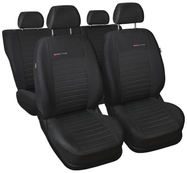 Premium Kunstleder Sitzbezüge Sitzbezug Schonbezüge für Mazda 323F Schwarz Set