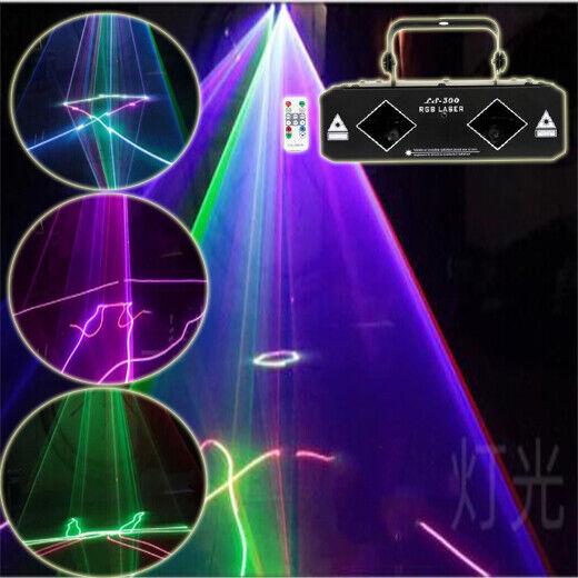 Remote 2 Big Lens RGB Beam Laser Light DMX Party Club DJ animation Stage Light