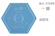 276TR Hama Beads MIDI Placa hexagonal grande transparente Pegboard