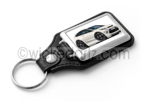 RetroArtz Cartoon Car Ford Focus MK2 ST3 White BK Alloys Classic Key Ring