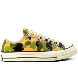 Details about New Converse Chuck 70 Archive Print Low Top University GoldBlackEgret Sneakers