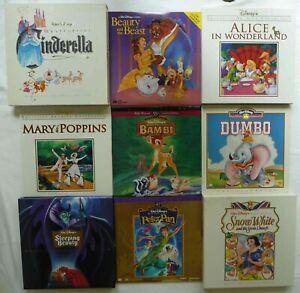 📽️ Walt Disney 9 Classic Laserdisc collections Alice Cinderella Bambi Dumbo etc