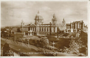 PC26017 City Hall and Garden of Remembrance. Belfast. Valentine. No 221479. RP