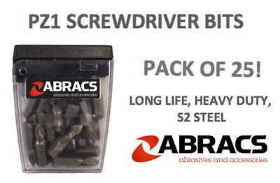 SCREWDRIVER BITS X 25 PHILLIPS HEAD PH2 25MM SCREW DRIVER BIT S2 STEEL 25 PACK